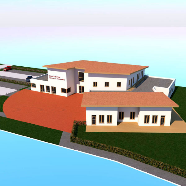 Konzepterstellung für den Neubau eines Gemeindezentrums und Kindergarten